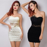 Sweet Nightclub Perspective Decorative Lace Dresses