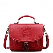 Retro Embossing Shoulder Bag Messenger Bag