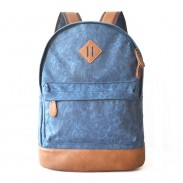 Leisure Trunk  Blue Leopard Print Canvas Satchel Travel Backpack