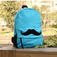 Fashion Lovely Mustache Pattern Canvas Backpacks
