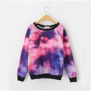 New Style Cosmic Ocean Sky Gradient Sleeve Sweater For Lovers