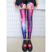 Retro Cross &Galaxy Star &American Flag Leggings
