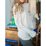 Sexy Lace Hollow Out  Bat Sleeve knit &Cardigan