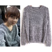 New Fashion Pure Color Mohair Sweater&Cardigan
