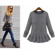 New Retro Twist Leaf  Pendulum Slim Sweater&Cardigan