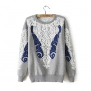Retro Baroque Palace Style Lace Sweater&Cardigan