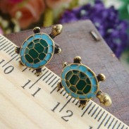 Retro Lovely Animal Turtle Mascot Earring Studs