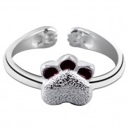 Handmade Cat Jewelry Lovely Kitten Girls Ring Cute Kitty Silver Open Ring