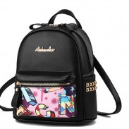 Cartoon Graffiti Rivet School Bag Cute Small Student Backpack