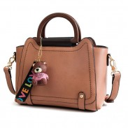 Leisure Large New Bear Decor Shoulder Bag Women Handbag