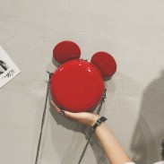 Lovely Cartoon Small Round Mickey Mouse Ear Shoulder Bag