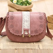 Sweet Lace Bow Hollow Out Messenger Bag&Shoulder Bag