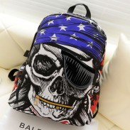 Fashion Pirate Pentagram Printing Leisure Backpack