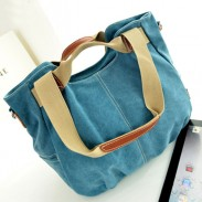 Fashion Leather Canvas Multi-purpose Handbag&Shoulder Bag