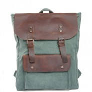 Retro Style Leisure College Women Bag Leather Travel Backpack