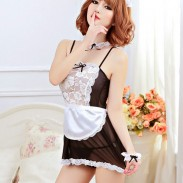 Sexy Maid Cosplay Playful Uniform Seduces Maid Lace Nightdress Intimate Lingerie