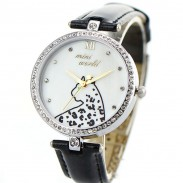Lovely Cheetah Pattern Full Rhinestone Quartz Watch