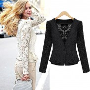 Sweet Hollow Lace Short Coat Jacket