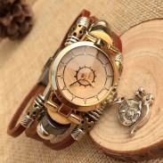 Fashion Snail Charm Leather Bracelet Watch