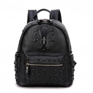 Punk Street Cross Skull Rivet Travel Student Backpack