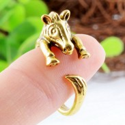Animals Lovely Alloy Zebra Opening Ring