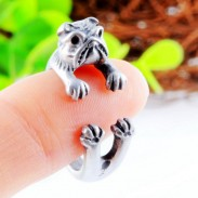 Hound Dog Alloy Animals Opening Ring