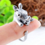 Baby Lovely Rhinoceros-shaped Opening Ring Alloy Ring