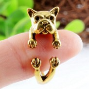 Original Lovely Shar Pei Dog-shaped Alloy Opening Ring