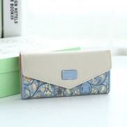 Unique Long Ladies Wallet Floral Purse Flower Printing Clutch Bag