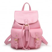Leisure Pink  Beam Port Dual Gril's Rucksack Front Pockets College Backpack