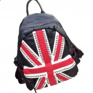 Fashion Street UK flag Rivet School Bag Travel Backpack