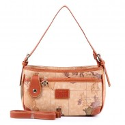 Retro Women World Map Rectangular Small Handbag Messenger Bag