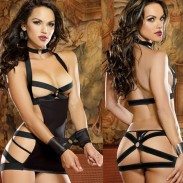Sexy Lotion Hollow Bundle Female Prisoner SM Temptation Women Lingerie