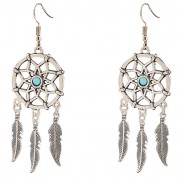 Vintage Dreamcatcher Feather Tassels Women's Bohemia Earring Studs Eardrop