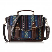 Folk Nation Totem Weave Double Belt Canvas Messenger Bag Shoulder Bag