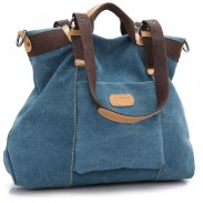 Leisure Multi-function Large Capacity Saddle Bag Retro Girl's Shoulder Bag Canvas Handbag