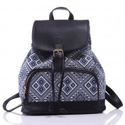 Leisure Original  Irregular Printing  Rucksack Totem Geometry Small Canvas Backpack