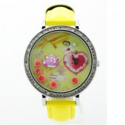 Romantic  Rhinestone Trim Polymer Clay Watch