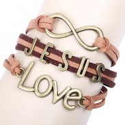 Lovely Love Infinity Jesus Bracelet