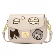 Cartoon Bear Crossbody Bag Cute Kitten Face Shoulder Bag