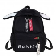 Lovely Rabbit Ear Rucksack Large Canvas Student Bag Girl School Backpack