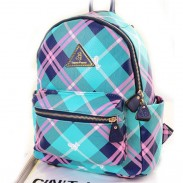 Contract Color Preppy Plaid Backpack