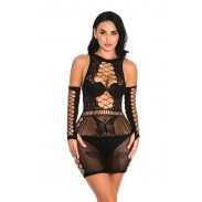 Sexy Fishnet Butterfly Hollow Lace Intimate Nightdress Women's Lingerie