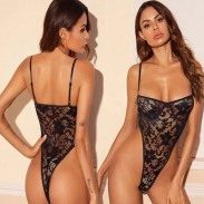 Sexy Flower Lace Sling Conjoined Teenage Hot Tight Intimate Lingerie