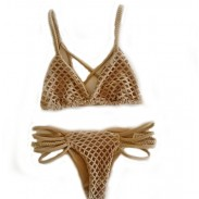 Fashion Hand-woven Mesh Swimsuit Swimwear Sexy Bikini Bathingsuit