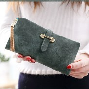 Unique Girl's Dull Polish Leather Multi-function Purse Long Phone Wallet Clutch Bag