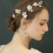Unique Flower Branch Leaves Original Bridal Hairpin Wedding Hair Accessories
