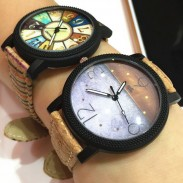 Retro Charm Leather Band Dusk Compass Fantasy Rome Casual Wrist Watch
