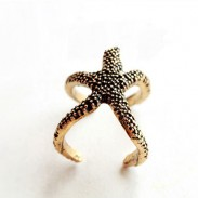 Retro Lovely Starfish Ope Ring
