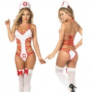 Sexy Bundle Uniform Temptation Cosplay Nurse Siamese Lingerie